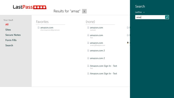 LastPass for Windows 8