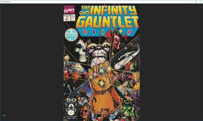 Thanos is boss with his IG when read in Comics++