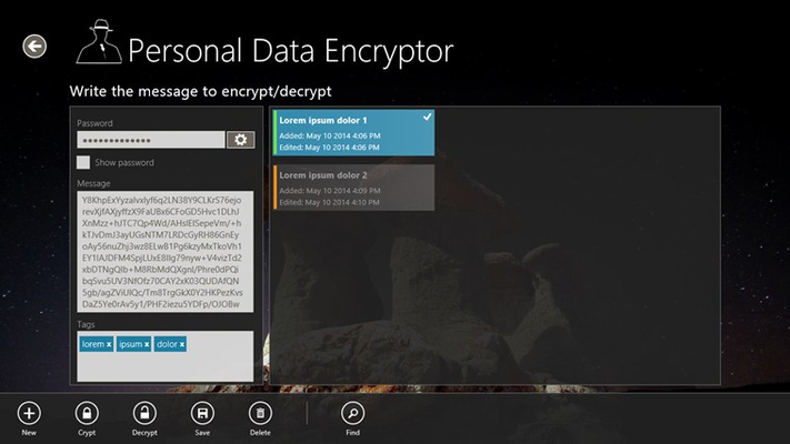 Messages encryption
