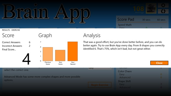 Performance analysis and graphs are displayed after each round.