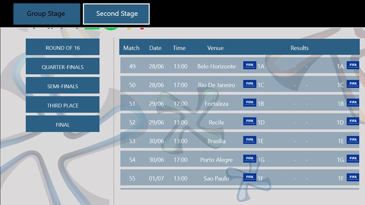 Second Stage matches