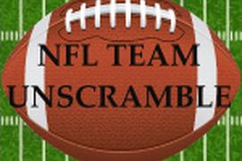 NFL Team Unscramble