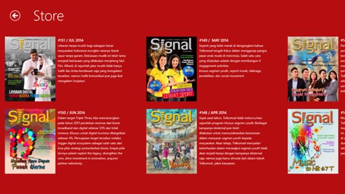 Di setiap majalah yang di tampilkan, disertakan pula preview sebelum download dan deskripsi singkat seputar issue yang sedang di bahas.