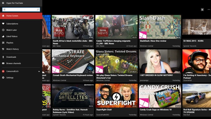 Search all of YouTube. Get Video, Playlist or Channel results. Including suggestions!