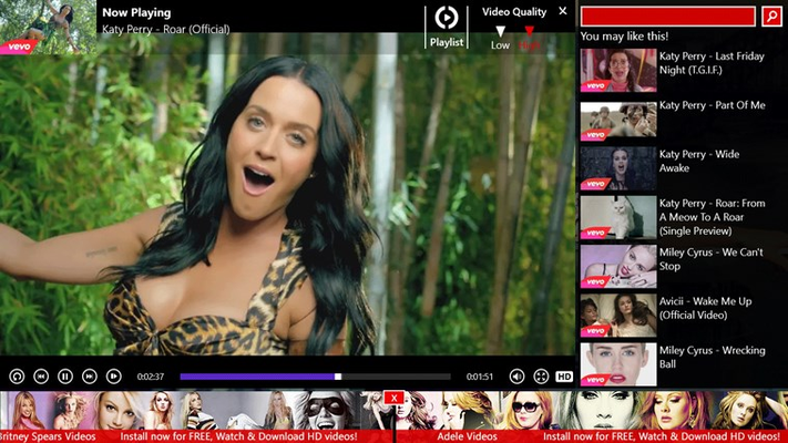 Katy Perry Videos for Windows 8