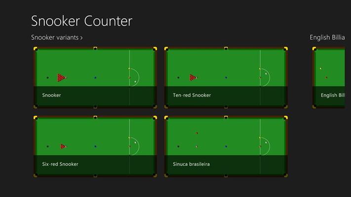 Overview of Snooker variants
