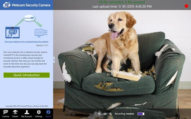 Webcam Security Camera for Windows 8