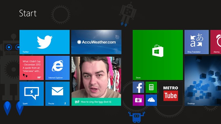 Great live tile experience and notifications about new unseen best Vines