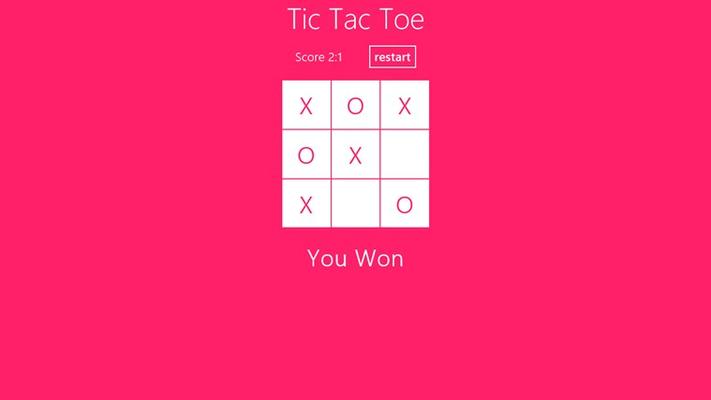 The Classic Tic Tac Toe - You Win