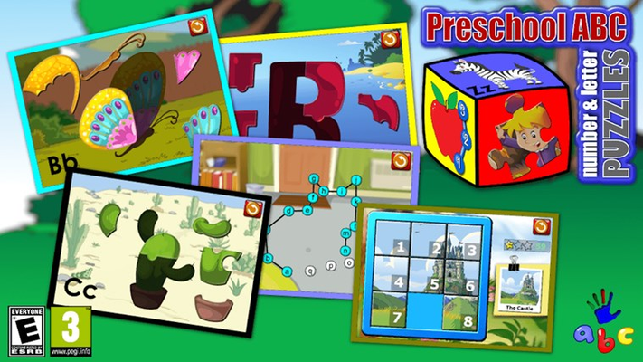ABC Number and Letter Puzzle Games
