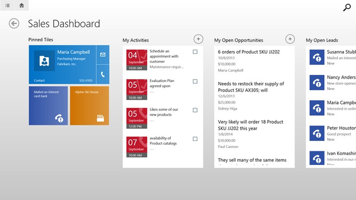 See everything you need to manage your day in an easy-to-scan dashboard.