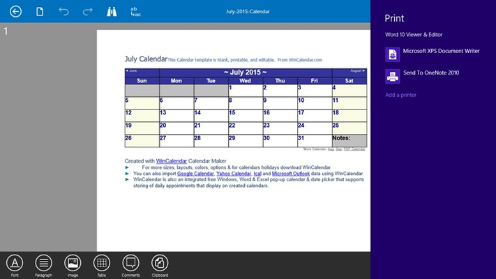 Word 10 Viewer & Editor for Windows 8