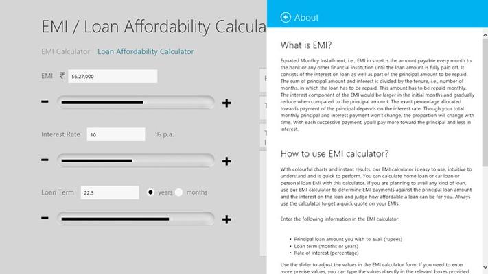 About the EMI Calculator
