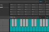 Keys mode allows playback using a two octave keyboard.