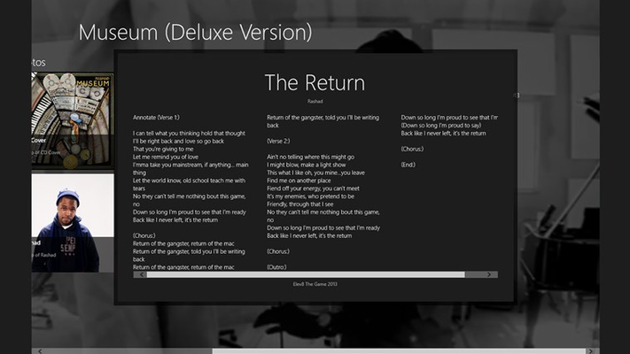 View lyrics from the release.