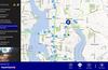 use AppBar to go to current location. click the left list to see traffic cam picture.