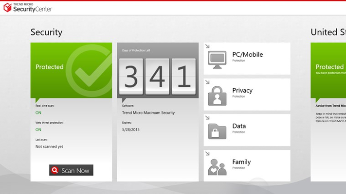 This screen shows the status of Trend Micro Titanium if you have installed it.