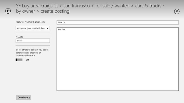 CPlus for Craigslist for Windows 8