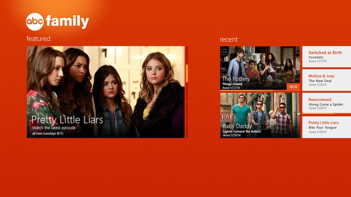 WATCH ABC Family for Windows 8