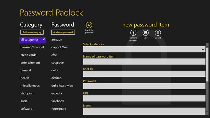 Password Padlock for Windows 8