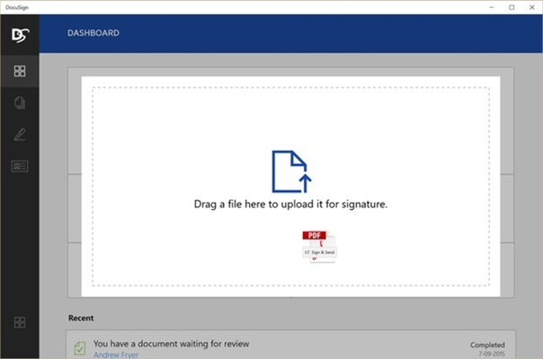 Drag and Drop documents onto the app from your desktop