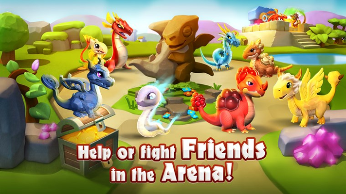 Help or fight friends in the Arena!