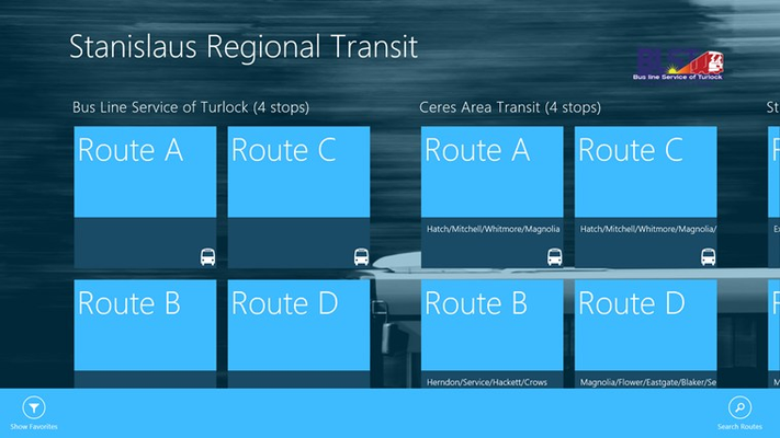 Routes page