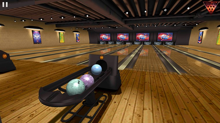 Warehouse bowling alley.