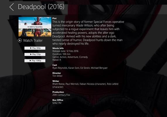 One Movie Stream for Windows 8