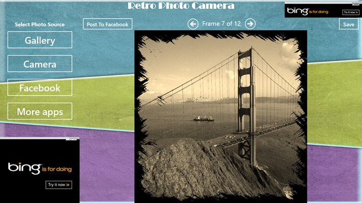 Image with Retro Photo Effect and frame