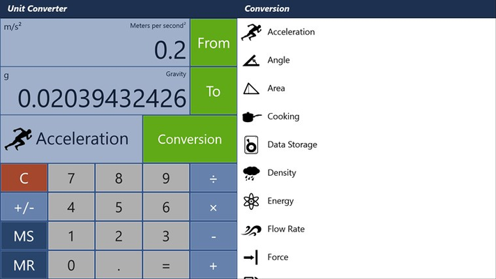 Unit Converter (over 3000 conversions in 19 categories)