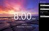 Select the sunrise length, music, volume, and image.