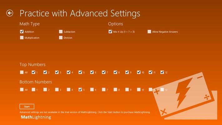 Math Lightning for Windows 8