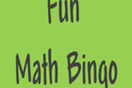Fun Math Bingo
