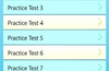 Screen to select Practice Tests