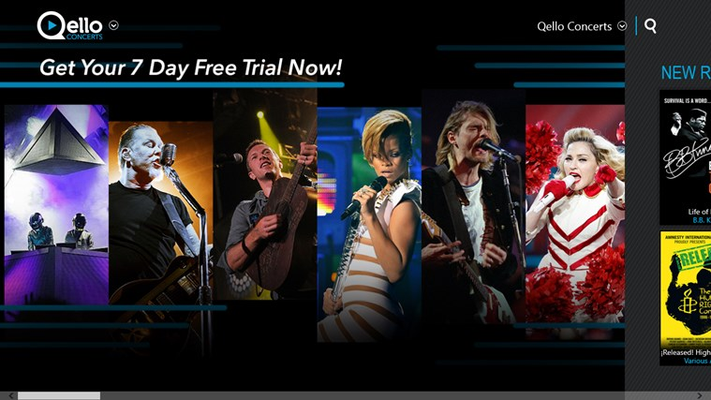 Sign up for a Qello 7-DAY FREE TRIAL