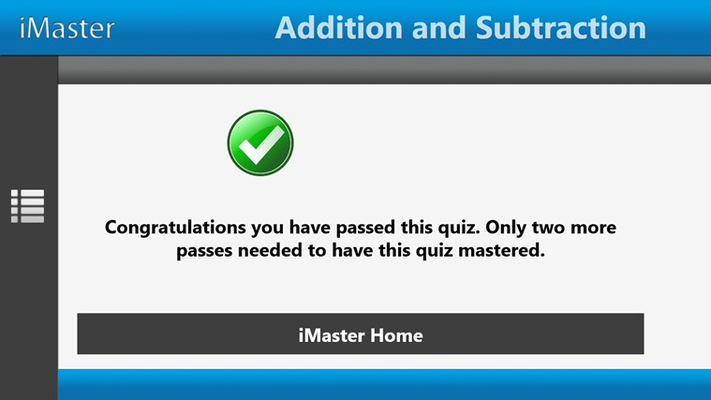Master specific topics by completing a quiz successfully 3 times