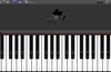 GrandPiano Lite. Keyboard with notations