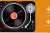 Tap the power button to activate the turntable, then lay down some mad beats.