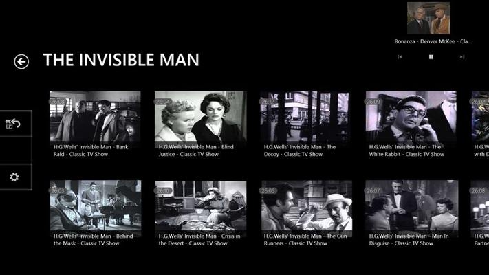 The Invisible man Show listing page