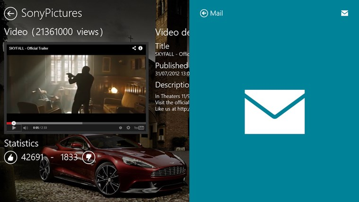 Share your favorite videos with your friends from the mail app.