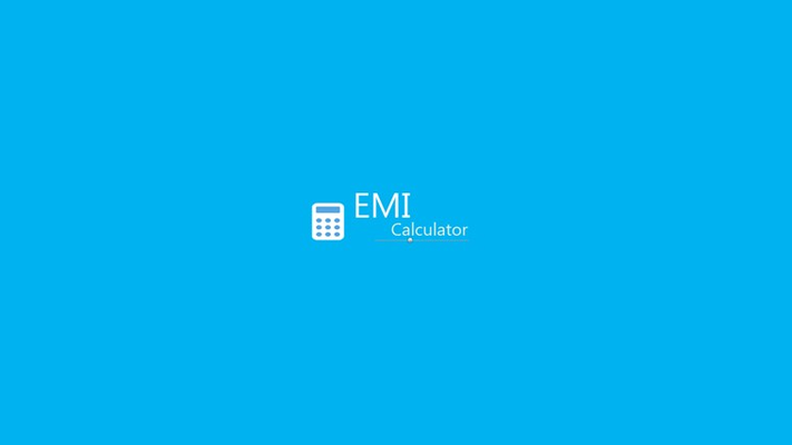 EMI calculator start up page
