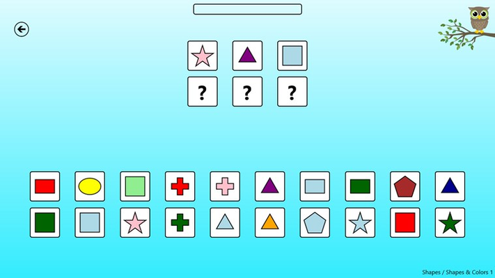 One of the shape games.