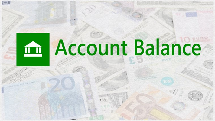 Easily keep track of your current account balance!