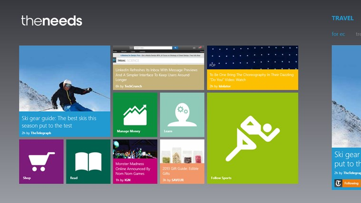 Enjoy a beautiful dynamic homepage with live tiles showing previews of the top stories for you.