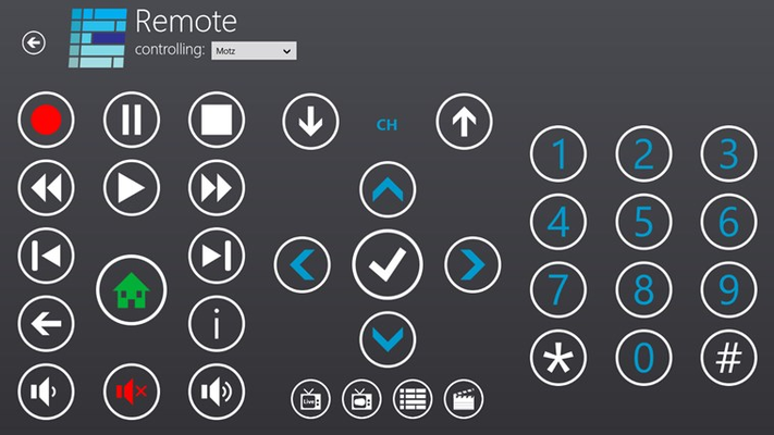 Full remote control for your PC or Extender