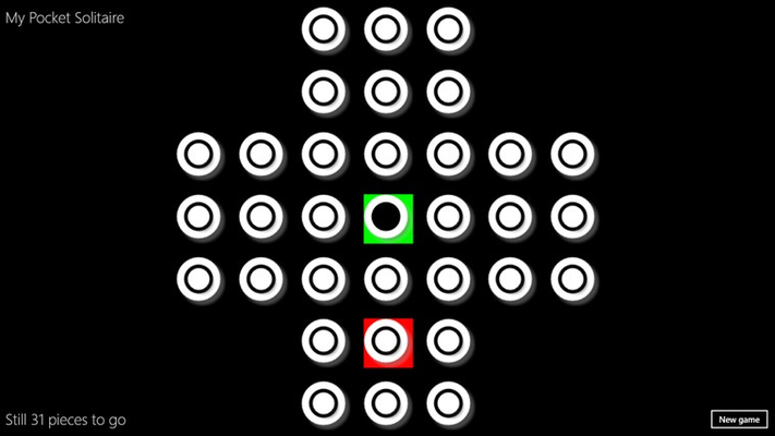 Example first move and notice color highlighting of moves