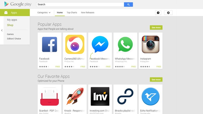 Androids apps