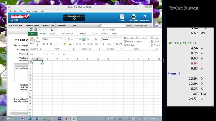 TenCalc Business Calculator for Windows 8