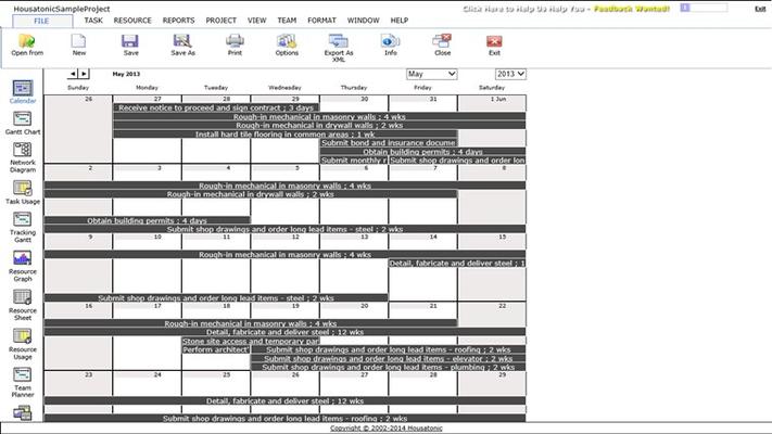 View Project Calendar
